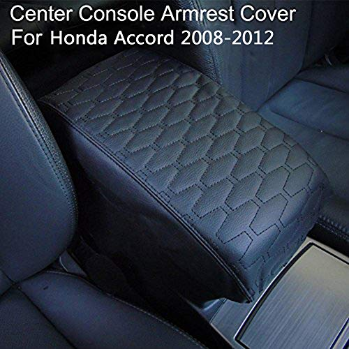 - Big Ant PU Leather Center Console Armrest Cover for 2008 2009 2010 2011 2012 Honda Accord Center Console Cover-Protects from Dirt and Damage Renews Old Damaged Consoles(Black)