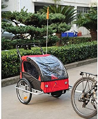 aosom Elite II 3 in1 Doble Remolque para Bicicleta de niño: Amazon ...
