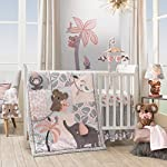 Lambs-Ivy-Calypso-Cotton-Fitted-Crib-Sheet-Pink-Gray-White-Animals
