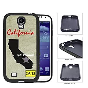 California State Tag License Plate with State Outline CA 13 Grunge Background Hard Rubber TPU Phone Case Cover Samsung Galaxy S4 I9500