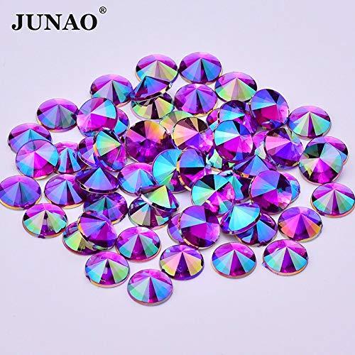 5 mm in AB Non termoadesivi Astonish Junao Perline Rotonde per Vestiti Colore: Rosa Strass da 10 mm con Retro Piatto 500 Pezzi