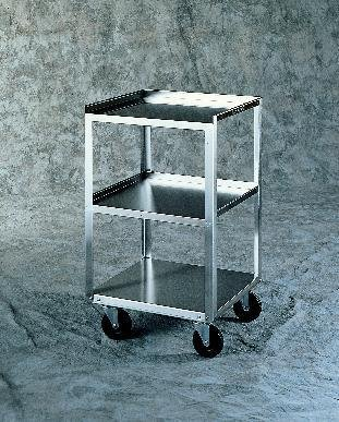 LAKESIDE MANUFACTURING 358 Stainless Steel Equipment Stand, 2 Drawers, 2 Shelves, 300 lb. Weight Capacity, 16-3/4