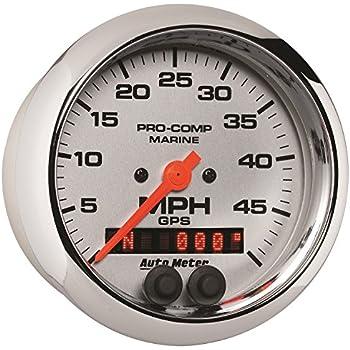 Speedometer Marine White 80Mph Auto Meter AutoMeter 200753 Gauge 3 3//8 Mechanical