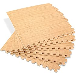 Forest Floor 5/8-inch Thick 144 Sq Ft (36 Tiles) Light Bamboo Interlocking Foam Floor Mats