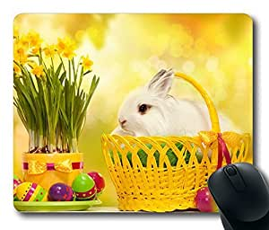 Mouse Pad Happy Easter Bunny Desktop Laptop Mousepads Comfortable Office Mouse Pad Mat Cute Gaming Mouse Pad