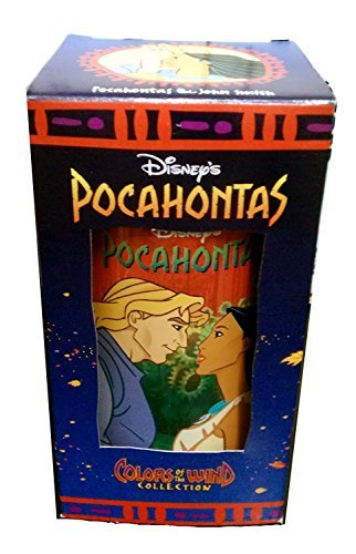 DISNEY'S POCAHONTAS POCAHONTAS & JOHN SMITH Drinking Glass Cup Collectable Colors of The Wind Collection (Promotional Classic Series)