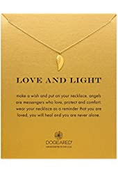 "Dogeared Love and Light Guardian Angel Wing 16"" Boxed Necklace"