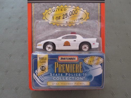 (Matchbox Premiere Collection - Limited Edition - World Class Series 18 - State Police II - Die Cast Utah Highway Patrol)
