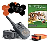 SportDOG SD-425 500 Yard Remote Dog Trainer with Free E-Book and Customized Bone Shaped Dog Tags (2 Dog System)