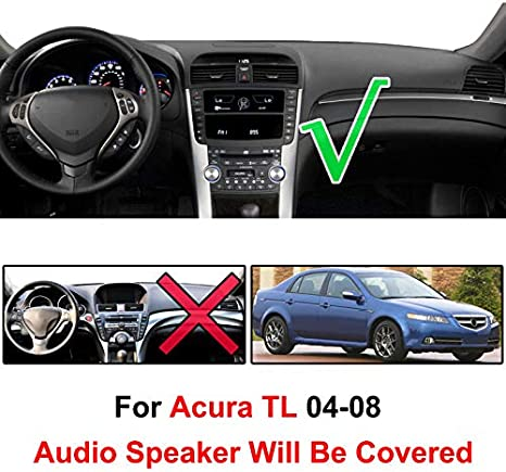 Black Left-Hand-Drive For 2004-2008 Acura TL Car Dash Cover Mat Dashboard Pad