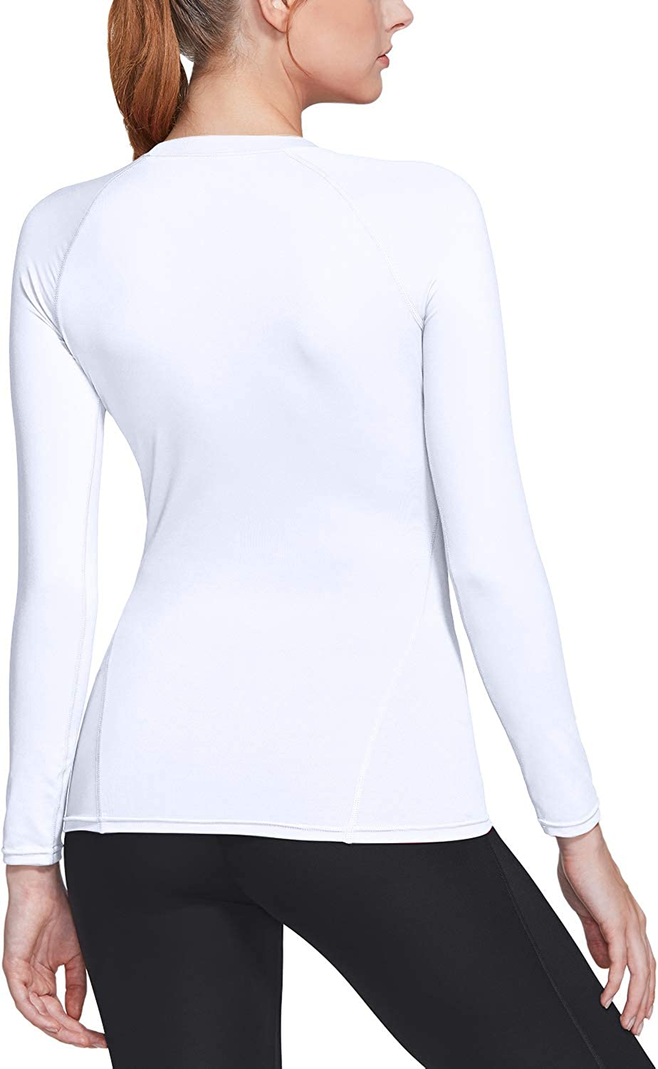 Athletic Exercise Gym Yoga Shirts Cool Dry Fit Long Sleeve Workout Tops TSLA 1 or 3 Pack Womens Sports Compression Shirt