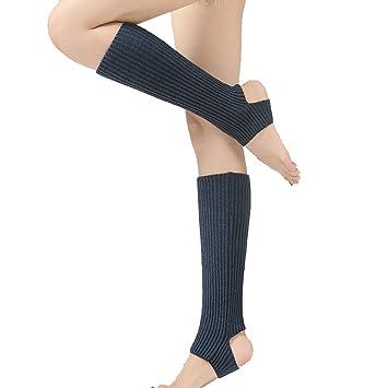 tukis Puertas Mujer Chica Ballet – Calentadores con Agujero en el talón (Bailar Ballet Calentadores (Calentadores de Ballet Sirven Legwarmer Mangas ...
