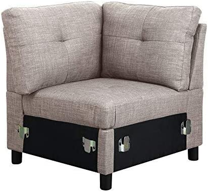 Amazon.com: BRIDGE - Juego de sofá modular de 7 piezas con ...