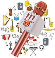 Ankuka Karaoke Wireless Microphone for Kids, Portable 4 in 1 Bluetooth Karaoke Machine Speaker Toys, Gifts for Christmas...