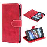 Sony Xperia Z1 Case,Mulbess Leather Case, Flip