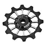 Ruota-guida-bici-Ruote-Jockey-12T-Puleggia-MTB-Strada-Mountain-Bike-Bicicletta-Deragliatore-posteriore-Puleggia-a-rulli-in-lega-di-alluminio-Ruota-puleggia-in-ceramica-per-78910-Speed-Bike-Nero
