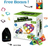 Magnetic Building Blocks 82 pcs | Best Educational Toys for children | Strong Magnets | by Little Fingers Big Minds