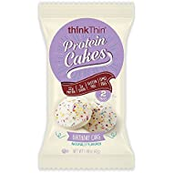 thinkThin Protein Cakes, Birthday Cake, 2 Cakes per 1.48 oz Package (9 Packages)