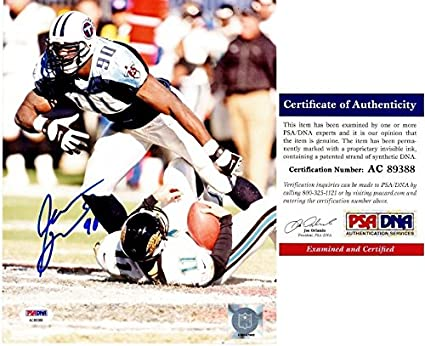 newest 094a3 f0999 Jevon Kearse Autographed Signed Tennessee Titans 8x10 Photo ...