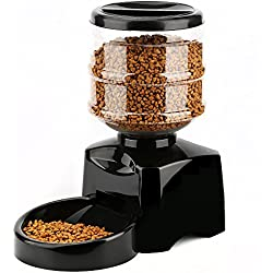 Pet Bowl Dog Bowl 5.5L Automatic Feeder Electronic Digital Display Bowl Dispenser for Cat Small Animal Black