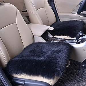 Amazon.com: LBZE - Cojín de piel de oveja para asiento de ...