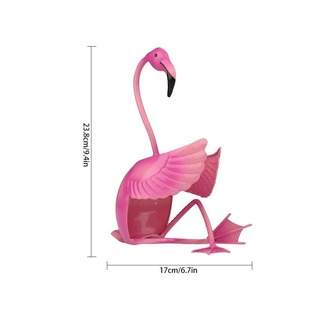 Flamingo Animal Wine Bottle Rack Cherry-Lee Metal Handmade Wine Glass Holder Home Decor Ideal Gift for The Wine Enthusiast