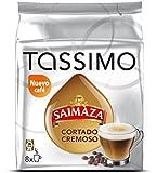 Tassimo Cápsulas de Café Saimaza Cortado Cremoso - 8 tazas (16 cápsulas)