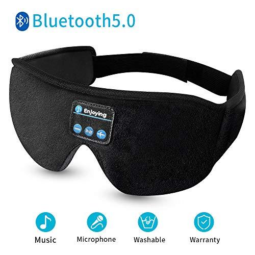 Sleep Headphones,Sleeping Headphones Bluetooth 5.0 Wireless Sleeping Headphones 3D Thin Bluetooth Eye mask Washable Built-in Speakers Handsfree Call for Side Sleepers,Workout, Travel