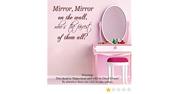 Wall Decals Vinyl Decal Sticker Family Quote Mirror Mirror on the ...