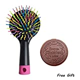 Foot Spa Massager Babyliss Brendacosmetic Portable Pretty Rainbow Massage Hair Comb Brush No Tangel Massage Comb, Chocalate Cookie Shaped Cosmetic Mirror Compact Mirror Pocket Mirror -with White Hair Comb