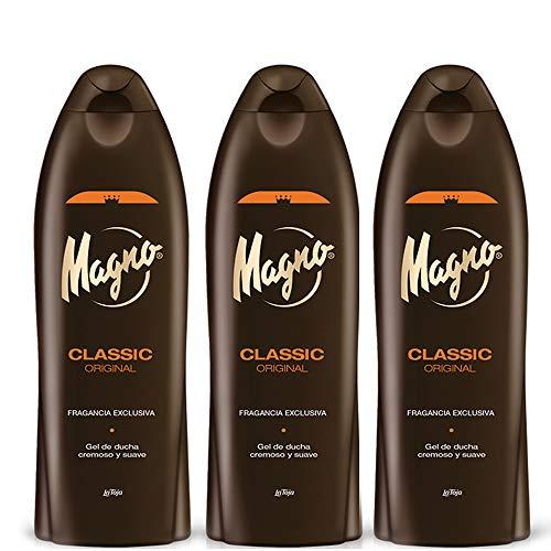 3 Bottles of Magno Shower Gel 18.3oz. 550ml