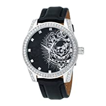 Marc Ecko The Face-off Leather Skull Dial Men's Watch #E09504G1