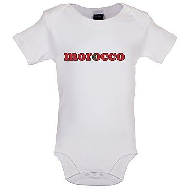 9648dc95cc3a2 Dressdown Coupe du Monde de Football - Maroc - Bébé-Body - 6 Couleur - 0-18  Mois  Amazon.fr  Vêtements et accessoires
