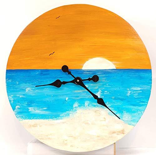 (16 inch Beach Life Concealed Gun Clock)