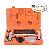 WYNNsky Tire Repair Tools Kit To Fix Tubless Punctures and Plug- 54 Piece Heavy Duty Set For Motorcycle, ATV, Jeep, Truck, Tractor Flat Tire Puncture Repair ( 10 SETS PACK)