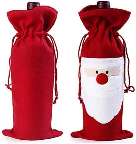Noël Bouteille De Vin Sac Housse Décor Noël Noël Dîner peluche cadeau