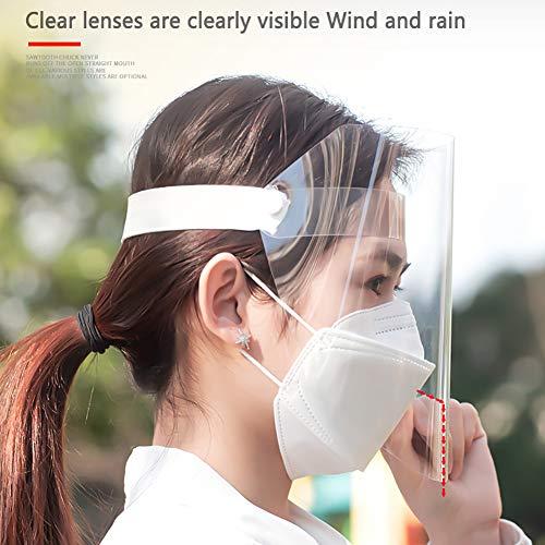 WAKA WAKA Splash-proof Dust-proof Mask, Full Face Shield Clear Head-mounted Protective Mask Rotatable Face Mask Full Face Masks Safety Face Shield