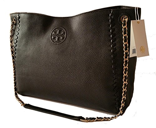 Tory Burch Marion Slouchy Shoulder Tote Black Leather Bag by Tory Burch (Image #1)