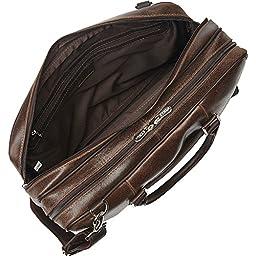 Piel Leather Vintage Laptop Brief, Vintage Brown, One Size