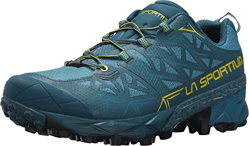 La Sportiva Akyra GTX Mountain Running Shoe, Ocean/Sulphur, 46