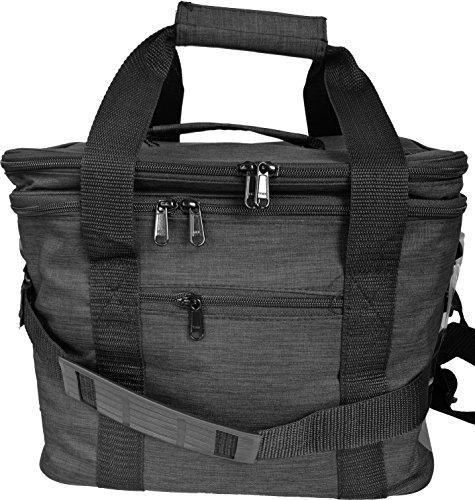 putwo Kühltasche Lunchtasche mit Schulterriemen Wunderschöne Große Kapazität 12L ideal für Picknick-3Farben schwarz