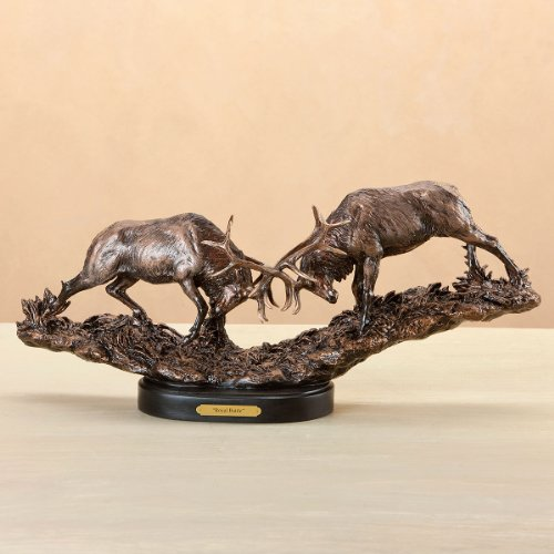 Pierce Collection - Marc Pierce Signature Collection Royal Battle, Elk Sculpture by Marc Pierce Signature Collection