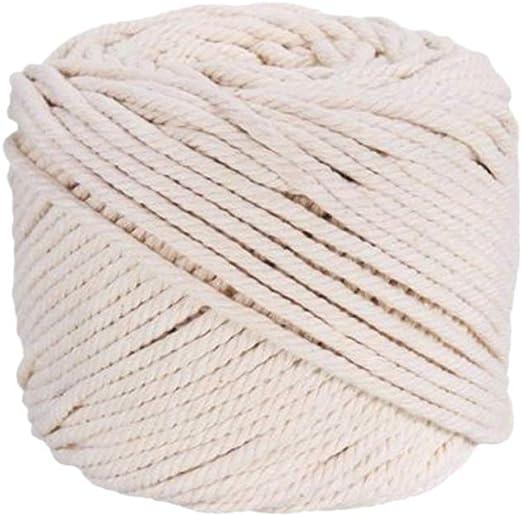 LIOOBO - Hilo de algodón para Tejer, 100 m, para Tejer y Hacer suéteres o Bufandas: Amazon.es: Hogar