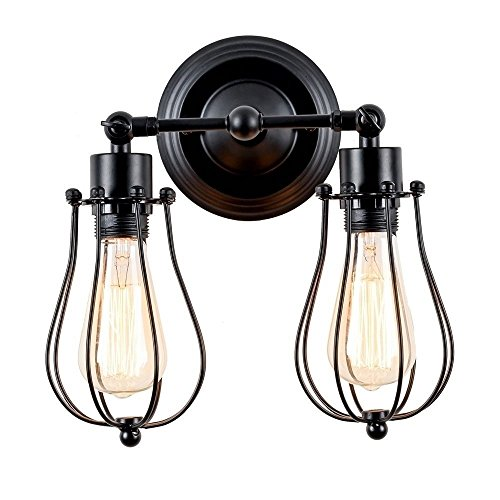 Retro Flush Two Light (DOIT 2-Light Wall Lamp, Adjustable American Retro Industrial Style Wall Light)