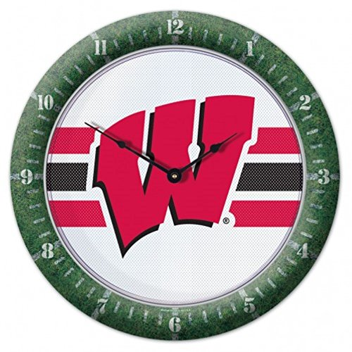 Badgers Wisconsin Clock Wall - NCAA Wisconsin Badgers WinCraft Official Football Game Clock