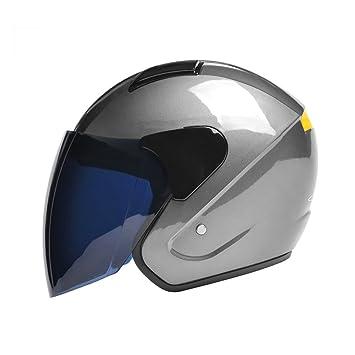 Casco de moto para hombres Casco medio casco eléctrico Casco de seguridad general para sol de