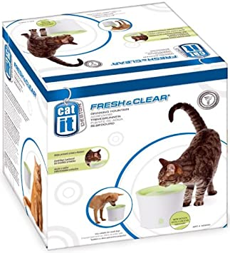Amazon.com: CATIT Diseño fresco y claro gato potable pluma ...
