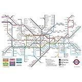 London Underground Map Poster Print, 92x61 cm