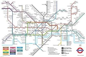 Amazon.de: Pyramid London Underground Map