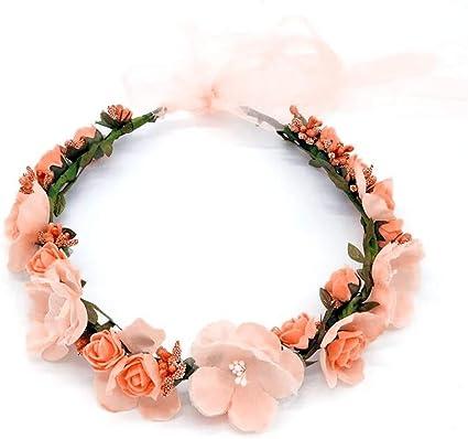 Rose Flower Headband Festival Wedding Garland Pretty Beach Boho Floral Hairband